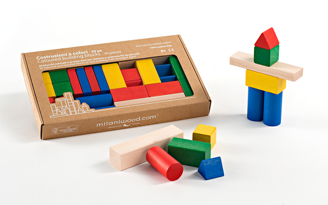 Colored Building Blocks (30 Pieces)