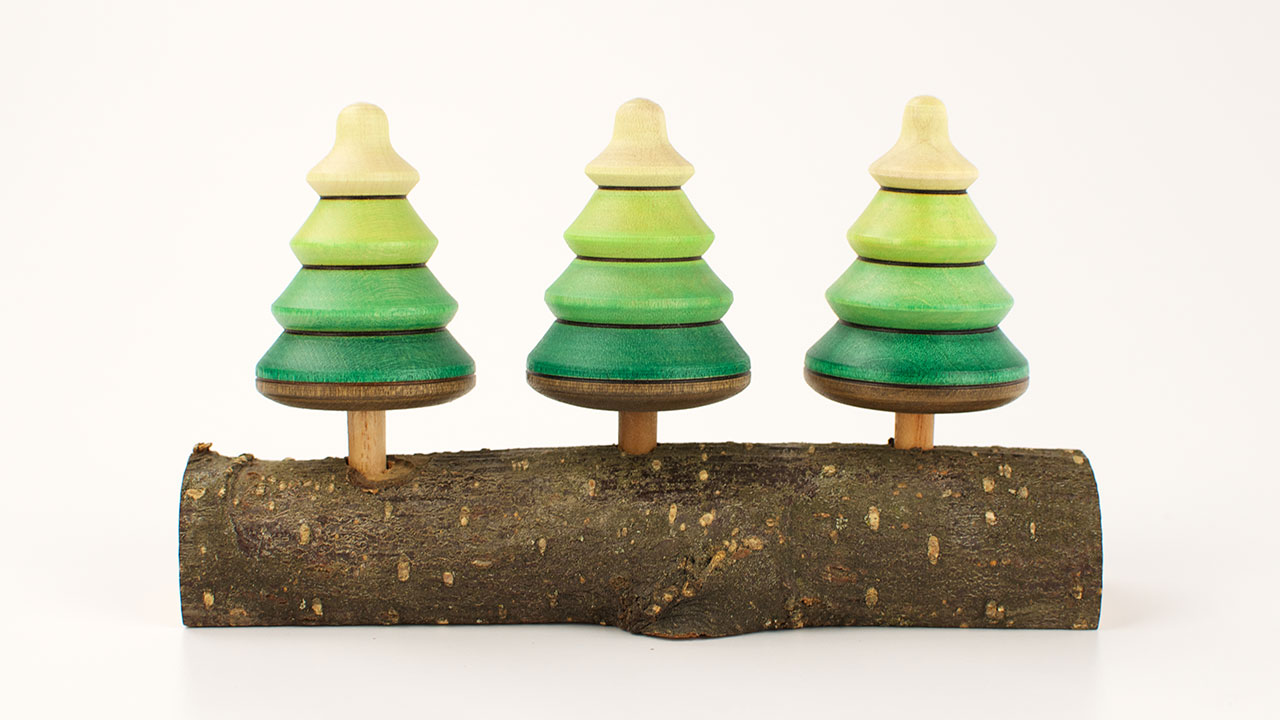 playableart spinning tree tops