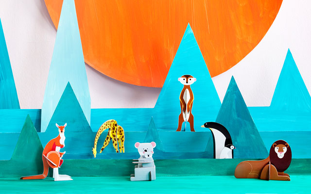 StudioROOF Pop Out Cards: Animals
