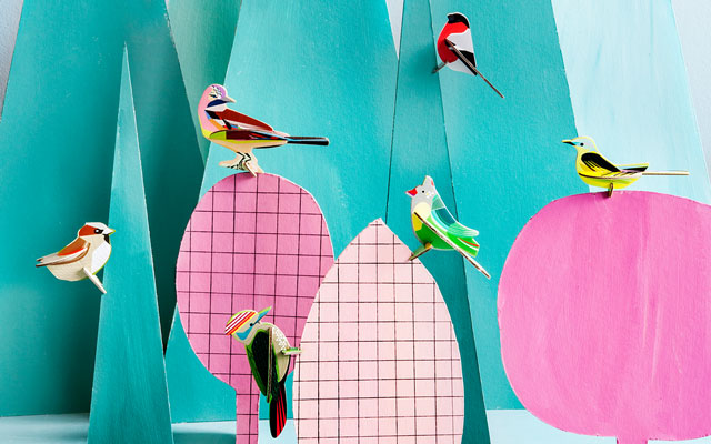 StudioROOF Pop Out Cards: Birds & Nature