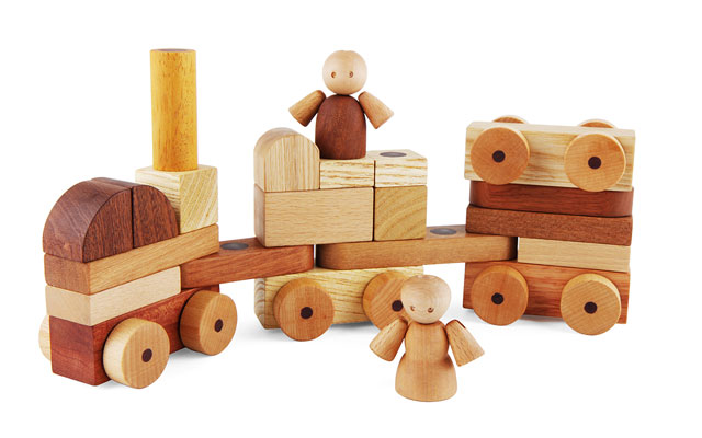 Soopsori Magnetic Wooden Cars and Blocks